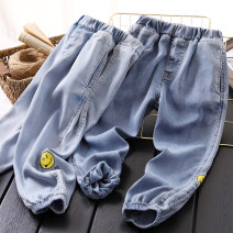 trousers Other / other male Light blue, blue summer trousers leisure time No model Jeans Leather belt middle-waisted other Don't open the crotch D96 printed thin denim anti mosquito pants Four, five, six, seven, eight, nine, ten, eleven, twelve, thirteen, fourteen
