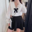 skirt Spring 2021 XS,S,M Versatile black, versatile black- Short skirt commute High waist A-line skirt Solid color Type A 25-29 years old 91% (inclusive) - 95% (inclusive) Yang Xiaojuan other Lotus leaf edge Korean version