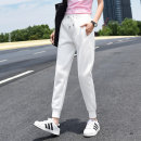 Casual pants White, royal blue, light grey, black, apricot, pink, white, light grey, black, apricot S. M, l, XL, 2XL, m Capris 97-108 kg, l Capris 110-118 kg, XL Capris 120-135 kg, 2XL Capris 136-150 kg Spring 2021 trousers Pencil pants High waist street Thin money 18-24 years old 96% and above