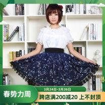 skirt Autumn of 2019 XS,S,M,L,XL,2XL Short skirt fresh High waist Pleated skirt other Type A More than 95% knitting Other / other polyester fiber
