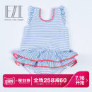 Children's swimsuit / pants Yizi 70cm85cm80cm75cm90cm100cm (without diaper lining) 110cm (without diaper lining) 120cm (without diaper lining) Blue and white striped powder stripes Children's one-piece swimsuit Female Nylon ezi10175 Summer 2017 No