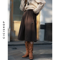 skirt Winter 2020 F Khaki black grey coffee Middle-skirt Versatile High waist A-line skirt Solid color 25-29 years old More than 95% Cici-Shop polyester fiber Polyester 98.3% polyurethane elastic fiber (spandex) 1.7% Pure e-commerce (online only)