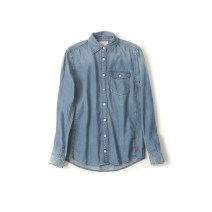 shirt As shown in the picture Xs, XL, 2XL, s (see the picture) 79 yuan cotton 96% and above Long sleeves street Regular square neck Single row multi button routine Europe and America