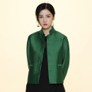 short coat Winter of 2019 M. S, l, XL, customized extra small, extra large size, free modification, no return, XXXL, XXL Green, black Long sleeves routine routine singleton  Straight cylinder commute stand collar Buckle Solid color Mengqi in Xiaoxiang PCY000546A