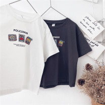 T-shirt White, dark gray, orange Other / other 90cm,100cm,110cm,120cm,130cm,140cm,150cm neutral summer Short sleeve leisure time No model nothing cotton other Sweat absorption 18 months, 2 years old, 3 years old, 4 years old, 5 years old, 6 years old, 7 years old, 8 years old, 9 years old