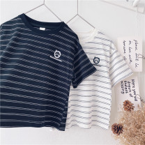 T-shirt White, black Other / other 90cm,100cm,110cm,120cm,130cm,140cm,150cm neutral summer Short sleeve leisure time No model nothing cotton other Sweat absorption 18 months, 2 years old, 3 years old, 4 years old, 5 years old, 6 years old, 7 years old, 8 years old, 9 years old