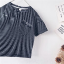 T-shirt Black and white stripes Other / other 90cm,100cm,110cm,120cm,130cm,140cm,150cm neutral summer Short sleeve leisure time No model nothing cotton other Sweat absorption 18 months, 2 years old, 3 years old, 4 years old, 5 years old, 6 years old, 7 years old, 8 years old, 9 years old