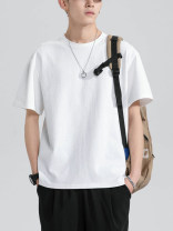 T-shirt Youth fashion Black, white, light gray, dark gray, khaki, ginger, dark pink, gray blue, haze blue, color blue, stone blue thin S,M,L,XL,2XL,3XL,4XL,5XL Sir, it's fashionable Short sleeve Crew neck easy Other leisure summer Cotton 100% youth routine tide 2021 Solid color cotton