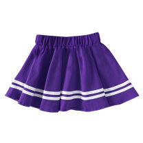 skirt 100cm,110cm,120cm,130cm,140cm,150cm,160cm,170cm,180cm,190,200 Purple skirt, purple shorts, girls' suit, boys' suit, short sleeve top Other / other female Other 100% No season skirt Pleats cotton Class B