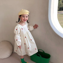 Dress Beige female Other / other 90cm,100cm,110cm,120cm,130cm,140cm Cotton 95% other 5% spring and autumn princess Long sleeves other cotton A-line skirt O100016 Class B 18 months, 2 years old, 3 years old, 4 years old, 5 years old, 6 years old, 7 years old, 8 years old, 9 years old Chinese Mainland