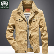 Jacket Field garden Fashion City Khaki, dark grey, coffee, dark blue M. L, XL, 2XL, 3XL, 4XL recommended 190-200 Jin routine easy Other leisure autumn Long sleeves Wear out Lapel Business Casual youth routine Single breasted 2019 Cloth hem No iron treatment Loose cuff Solid color corduroy cotton