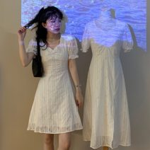 Dress Summer 2021 Black long, white long, black short, white short S, M Mid length dress singleton  Short sleeve Solid color 18-24 years old Type A Other / other ysg8393 81% (inclusive) - 90% (inclusive)