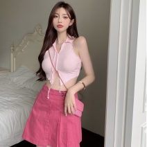 Fashion suit Summer 2021 S, M Pink vest, rose skirt 18-25 years old Other / other ZXJ6312 30% and below