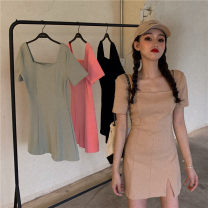Dress Summer 2021 Khaki, green, black, pink Average size 18-24 years old Other / other kjd39
