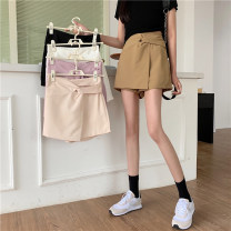 skirt Summer 2021 Average size Khaki, apricot, white, lotus root, black Short skirt Versatile High waist Type A 18-24 years old ysg7523 30% and below Other / other