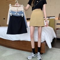 skirt Summer 2021 S,M,L,XL Blue, yellow, black, Beixing Short skirt Versatile A-line skirt Solid color Type A 18-24 years old lym14699 31% (inclusive) - 50% (inclusive) other Other / other other 61G / m ^ 2 (including) - 80g / m ^ 2 (including)
