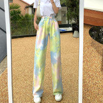 Casual pants colour S, M Summer 2021 trousers Wide leg pants High waist Versatile routine 18-24 years old 30% and below ZXJ6356 Other / other other pocket