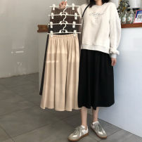 skirt Summer 2021 Average size Khaki, apricot, grey, black Mid length dress Versatile High waist A-line skirt Solid color Type A 18-24 years old ysg2238# 71% (inclusive) - 80% (inclusive) other Other / other other