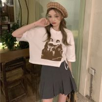 Fashion suit Summer 2021 S. M, l, average size White T-shirt, black T-shirt, skirt 18-25 years old Other / other ZXJ6028 30% and below