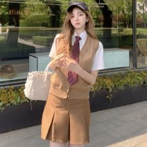 Fashion suit Spring 2021 S. M, average size Vest, shirt (TIE), skirt 18-25 years old Other / other ZXJ6107 30% and below