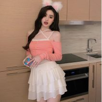 Fashion suit Summer 2021 S. M, average size White skirt, black skirt, pink top, black top 18-25 years old Other / other ZXJ5287 30% and below