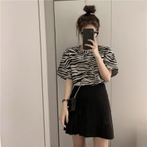 Fashion suit Summer 2021 S. M, average size Zebra T, skirt 18-25 years old Other / other lym14807 30% and below
