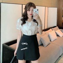 Fashion suit Summer 2021 S. M, l, average size White top, black skirt 18-25 years old Other / other YM6442 96% and above polyester fiber