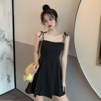 Dress Spring 2021 Yellow, black S,M,L Middle-skirt singleton  Sleeveless commute High waist Solid color Socket 18-24 years old Other / other Korean version lym14710 30% and below