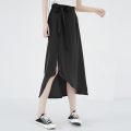 skirt Summer 2020 Average size Black, red Mid length dress Versatile High waist Irregular Type A Chiffon