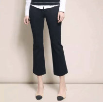 Casual pants black One, two, three, four, five, six Spring 2021 Ninth pants Flared trousers Natural waist commute routine 96% and above Girdard / brother-in-law Ol style nylon