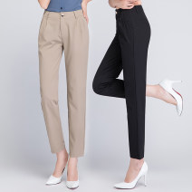 Casual pants Black, Khaki 1 = 27 (waist 2 feet), 2 = 28 (waist 2 feet 1), 3 = 29 (waist 2 feet 2), 4 = 30 (waist 2 feet 3), 5 = 31 (waist 2 feet 4), 6 = 32 (waist 2 feet 5), 7 = 33 (waist 2 feet 6) Summer 2021 Ninth pants Haren pants High waist commute Thin money 51% (inclusive) - 70% (inclusive)