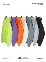 Sweater Dark green, gray, blue, bright green, orange, purple, gray, black apricot. S M L XL 2XL Youth epidemic Other /other Pure color Sleeve Plus velvet Hooded winter tide Loose dance conventional cotton Kangaroo pocket