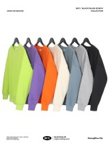 Sweater Youth fashion Others Gray blue orange bright green purple gray black apricot S M L XL 2XL Socket Solid color Plush Crew neck winter easy leisure time tide routine cotton