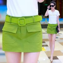Casual pants Spring of 2018 shorts High waist commute routine 96% and above cotton Korean version pocket cotton
