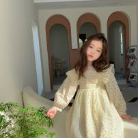 Dress female Other / other Cotton 100% spring and autumn Korean version Long sleeves Solid color cotton A-line skirt Class A 12 months, 18 months, 2 years old, 3 years old, 4 years old, 5 years old, 6 years old, 7 years old, 8 years old, 9 years old Chinese Mainland Zhejiang Province Huzhou City