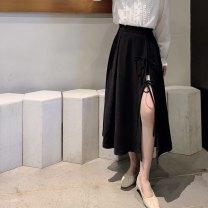 skirt Spring 2021 M, L Black, blue