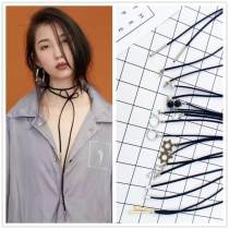 Necklace other RMB 1.00-9.99 Other / other Gold copper tube silver copper tube Black Pearl Star + love pearl 1cm Silver Tube hexagon star minimalist triangle minimalist round silver rivet brand new Japan and South Korea female goods in stock yes Online gathering features 81cm and above Not inlaid