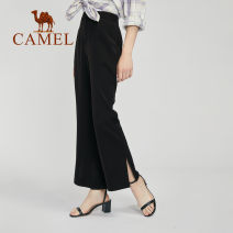 Casual pants W0s1tm117, black S M L XL XXL XXXL Autumn 2020 trousers Flared trousers High waist W0S1TM117 Camel Polyester 100% Same model in shopping mall (sold online and offline)