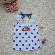 Vest sling Picture color camisole summer Children's wear female No model Dot Crew neck nothing Other 100% Seven, eight, nine