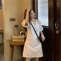 Dress Summer 2021 White, black S,M,L,XL Short skirt singleton  Short sleeve Sweet square neck Loose waist Solid color Socket A-line skirt puff sleeve Others 18-24 years old Type A 71% (inclusive) - 80% (inclusive) other other