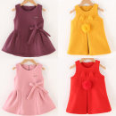 Dress Kitten red, kitten pink, bow Red, bow pink, bow purple, bow khaki, kitten yellow, clothing size, do not greedy, fabric has been changed, do not pilling, do not fade female Other / other 80cm,90cm,100cm,110cm,120cm Polyester 100% spring and autumn Korean version Skirt / vest Solid color other