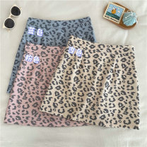 skirt Summer 2021 M,L,XL,2XL,3XL,4XL Blue, apricot, pink longuette commute High waist A-line skirt Leopard Print Type A 25-29 years old 31% (inclusive) - 50% (inclusive) other other Button, zipper, printing, three-dimensional decoration Korean version