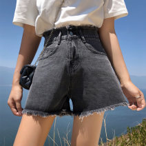 Casual pants Grey Retro Blue S M L XL Spring 2020 shorts Haren pants Natural waist Thin money 25-29 years old SXDK2O008 Paradise of awakening cotton Cotton 77.1% viscose (viscose) 18.3% polyester 4.6% Pure e-commerce (online only)