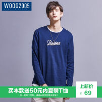 T-shirt Youth fashion Navy blue routine XXL WOOG2005 WT1801A6013 Cotton 100% Knitted fabric Autumn of 2018 Pure e-commerce (online only)