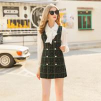Fashion suit Spring 2021 S,M,L White + dark green 25-35 years old RMO&JUL 31% (inclusive) - 50% (inclusive) polyester fiber