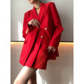 suit Spring 2021 Ruby suit, ruby skirt, classic black suit, classic black skirt, apricot suit, apricot skirt S,M,L Long sleeves routine Straight cylinder tailored collar Single breasted Sweet routine Solid color PR21010 25-29 years old 96% and above Cellulose acetate Other / other