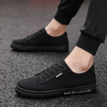 canvas shoe 39,40,41,42,43,44 Frenulum Low Gang Other / other White, black, graffiti, 803 black gold, 803 black, 803 white black Flat heel summer The trend of youth cloth rubber ventilation Solid color Adhesive shoes Youth (18-40 years old) Sewing Korean version cloth