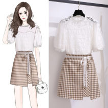 Fashion suit Summer 2021 S,M,L,XL Top ten skirt, top, skirt 18-25 years old 81% (inclusive) - 90% (inclusive) cotton