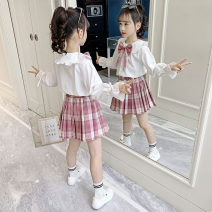 Dress Collection and purchase priority delivery powder lattice blue lattice female Bedo Lulu Other 100% spring and autumn college Long sleeves lattice other A-line skirt MMC-A21141 Spring 2021