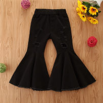 trousers SAMGAMI BABY female 90cm,100cm,110cm,120cm,130cm spring and autumn trousers Europe and America No model Jeans Leather belt middle-waisted Denim Don't open the crotch Cotton 100% Class A 2 years old, 3 years old, 4 years old, 5 years old, 6 years old Chinese Mainland